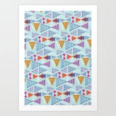 Geometric Mid Century Modern Triangles 2 Art Print