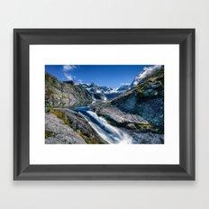 Mountain Creek #blue Framed Art Print