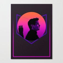 Hawk-eye 80's Alternative Character Poster Canvas Print