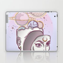 Face Falling From Space Laptop & iPad Skin