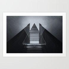 The Hotel (experimental futuristic architecture photo art in modern black & white) Art Print