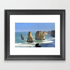 Rock Formations Framed Art Print