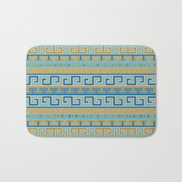 Meander Pattern - Greek Key Ornament #3 Bath Mat