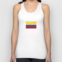 colombia Tank Tops featuring colombia country flag by tony tudor