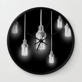 Energy saving bulbs with cords Wall Clock