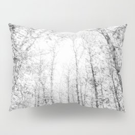 Black and white tree photography - Watercolor series #4 Pillow Sham
