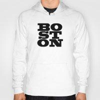 boston Hoodies featuring Boston by Jeremy Jon Myers