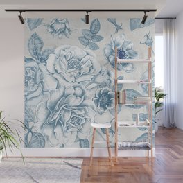 Blue Flower Anely Wall Mural