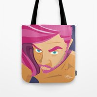 selfie Tote Bags featuring Selfie by nathan wellman