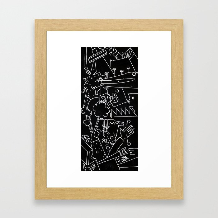 School blackboard Framed Art Print