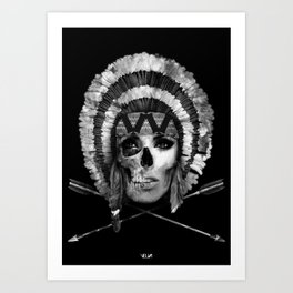 Woman/Skull Art Print