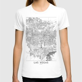 Las Vegas White Map T-shirt