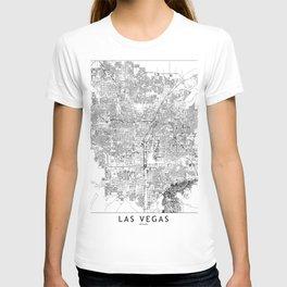 Las Vegas White Map T-shirt