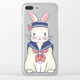 Sailor Bunny At The Beach Clear iPhone Case