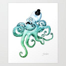 Dapper Octopus Art Print