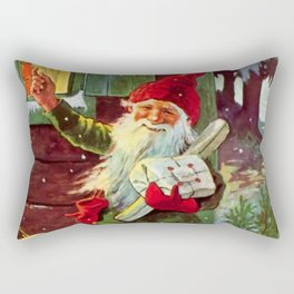 """""""The Presents Have Arrived"""" by Jenny Nystrom Rectangular Pillow"""