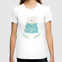 typewriter T-shirts featuring typewriter by WreckThisGirl