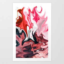 Blood in Milk Art Print