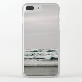 Waves Crashing on Cannon Beach Oregon Clear iPhone Case