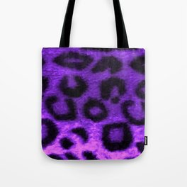Spotted Leopard Purple Tote Bag