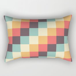 When dad was young - Pixel pattern in muted pastel colors Rectangular Pillow