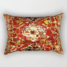 Shirvan Carpet Low Poly Geometric Triangle Art Rectangular Pillow