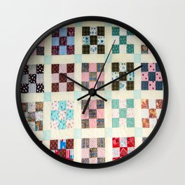 Large Quilt Wall Clock