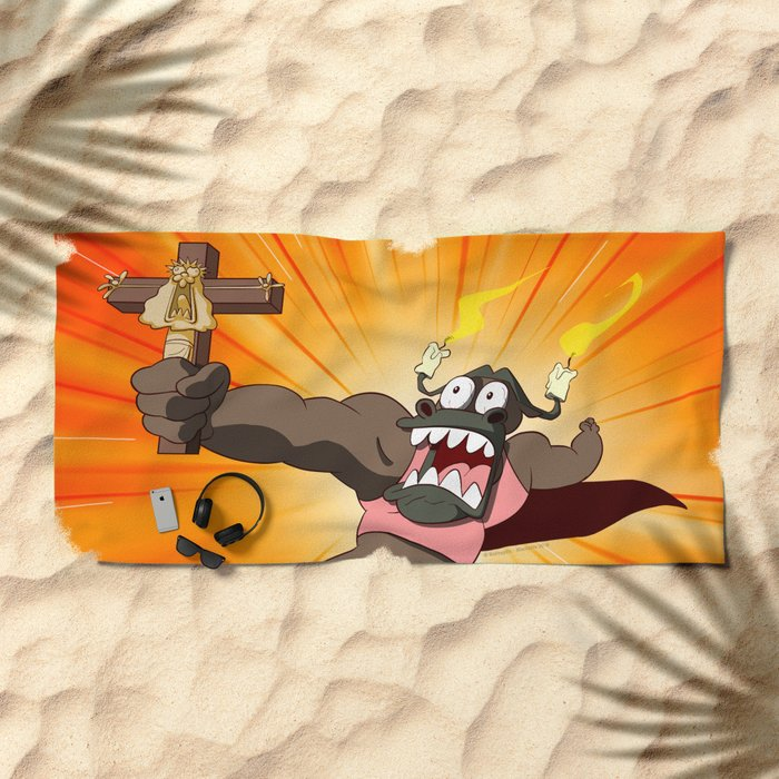 Grocosto VS the world (Peepoodo) Beach Towel
