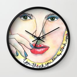 """Quote """"If you think you can't, think again"""" Wall Clock"""