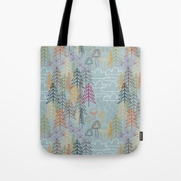 A Rainy Wood Tote Bag