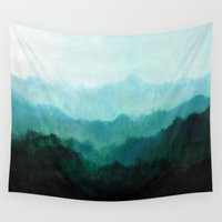 mountains Wall Tapestries featuring Mists No. 2 by Prelude Posters
