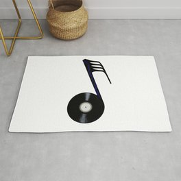 Isolated Record Note Rug