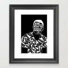 Freddie Gray - Black Lives Matter - Series - Black Voices Framed Art Print