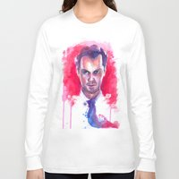 moriarty Long Sleeve T-shirts featuring Jim Moriarty by Claudia Marianno