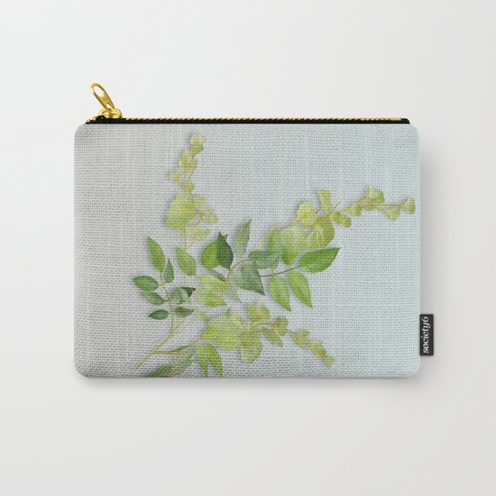 Yellow Tiny Flowers Carry-All Pouch