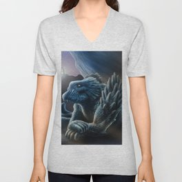 The sorceress and the dragon Unisex V-Neck