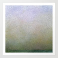 Hazy Green Landscape Art Print