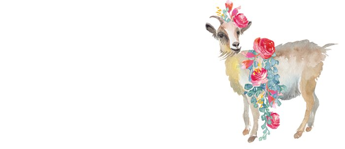 goat with flower crown Coffee Mug