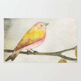 Pink Yellow Bird Rug