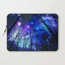 black trees purple blue space Laptop Sleeve