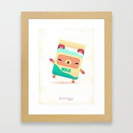 Milk Bear Framed Art Print