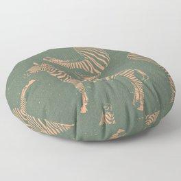 Safari Potpourri Peach Green Floor Pillow