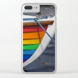 RAINBOW SAILBOAT Clear iPhone Case