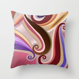 Orangepurple curve  Throw Pillow
