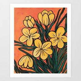 Yellow Crocuses Art Print