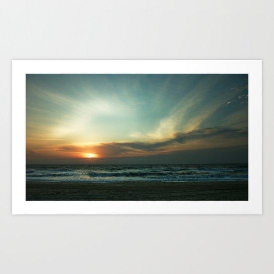 Morning Surf Art Print
