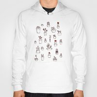 succulents Hoodies featuring Succulents by HazelAlice