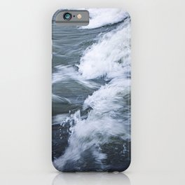 Rushing Blue Water and White Waves; water in motion  iPhone Case
