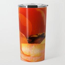 Orange Poppy on White - Sharp #1 Travel Mug