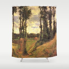 Paul Gauguin - Poplar-lined Lane, Osny (1883) Shower Curtain